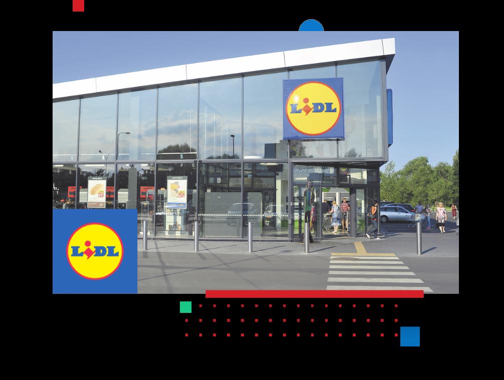 Lidl store und logo als Übersicht der Erfolgsgeschichte