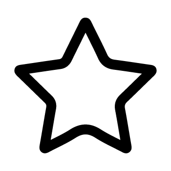 Icon black star