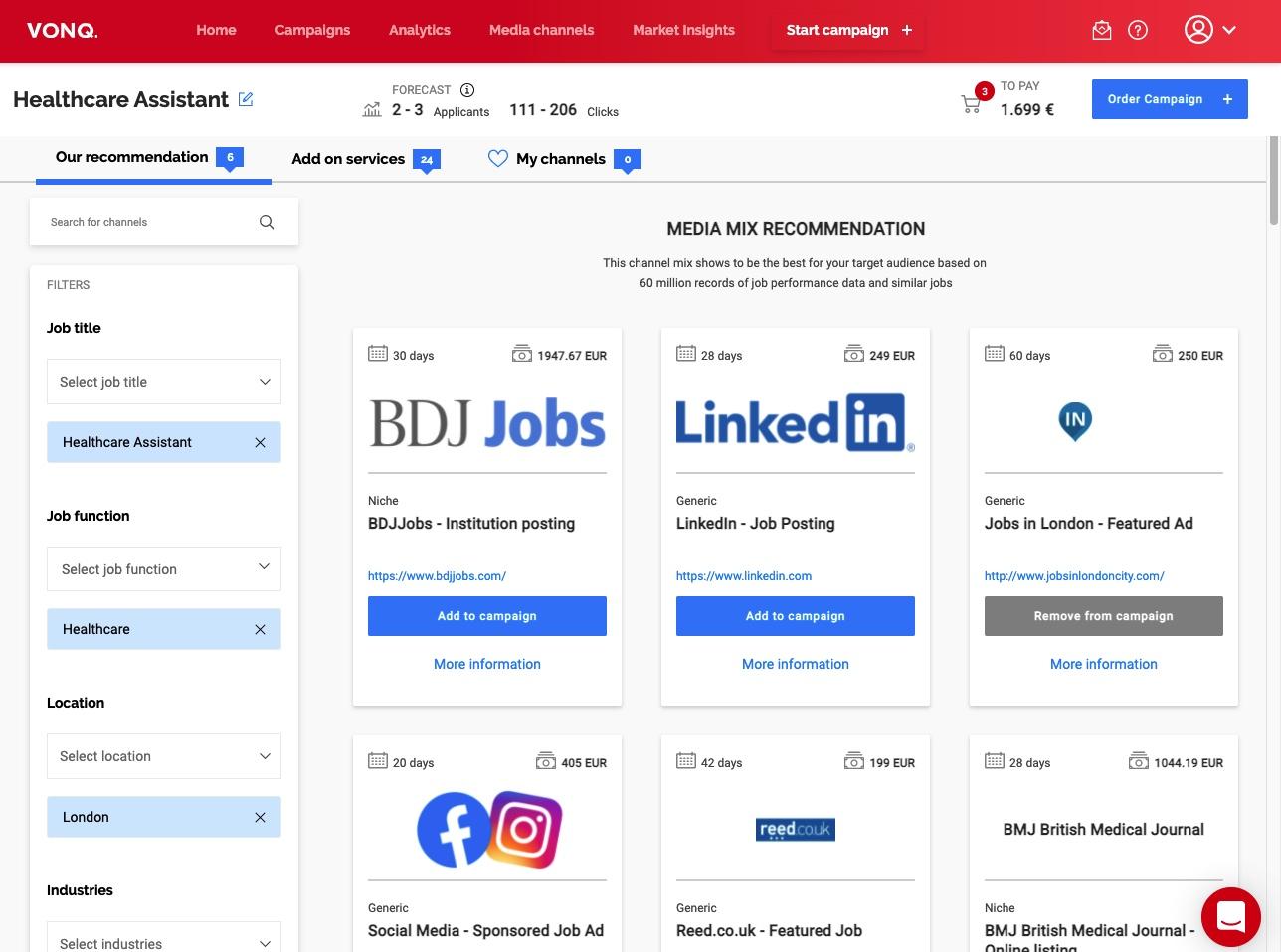Job Marketing Platform Marketplace